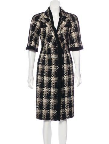 Chanel Metallic Wool Coat None