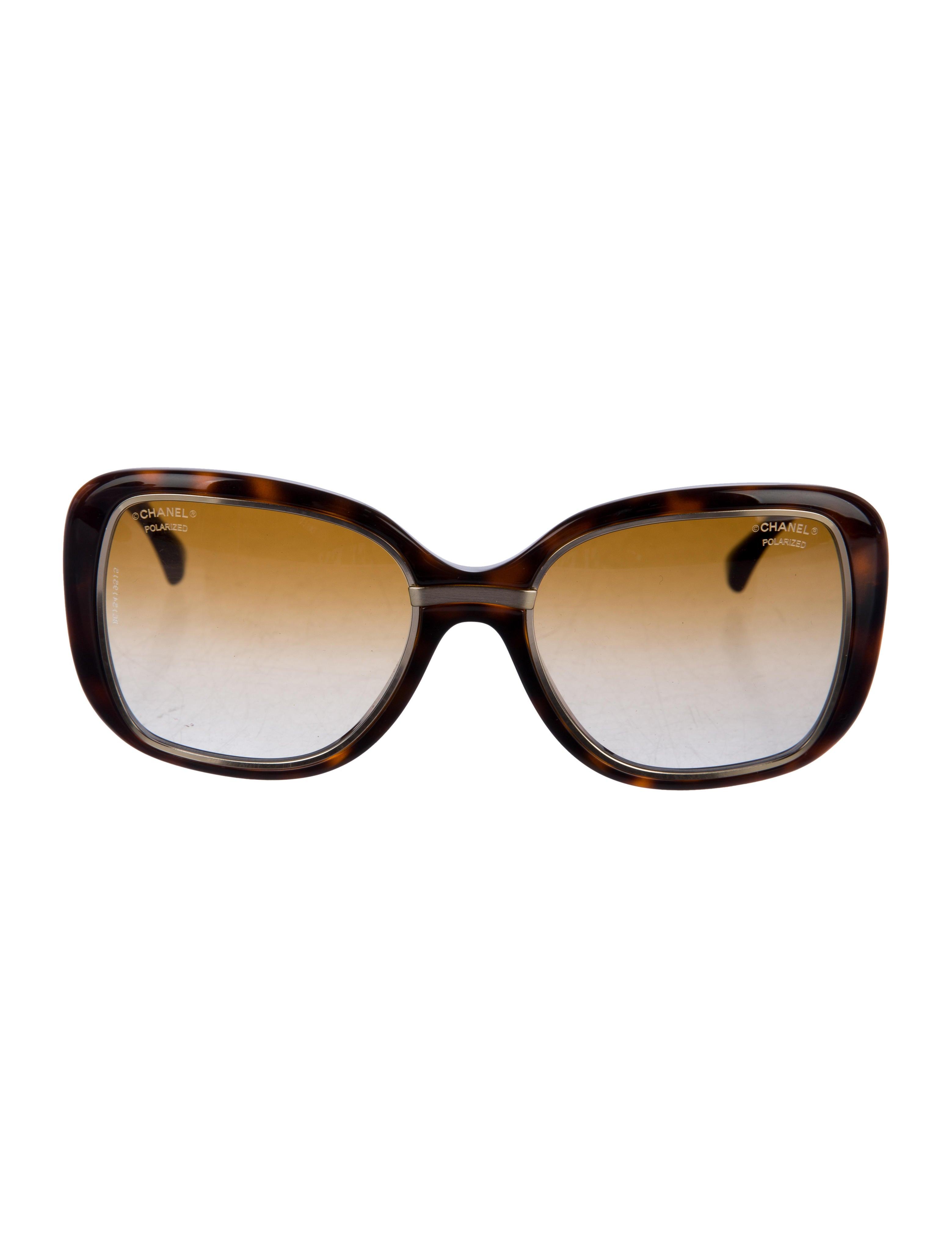 b613389de390 Chanel Polarized Two-Tone Sunglasses - Accessories - CHA213011