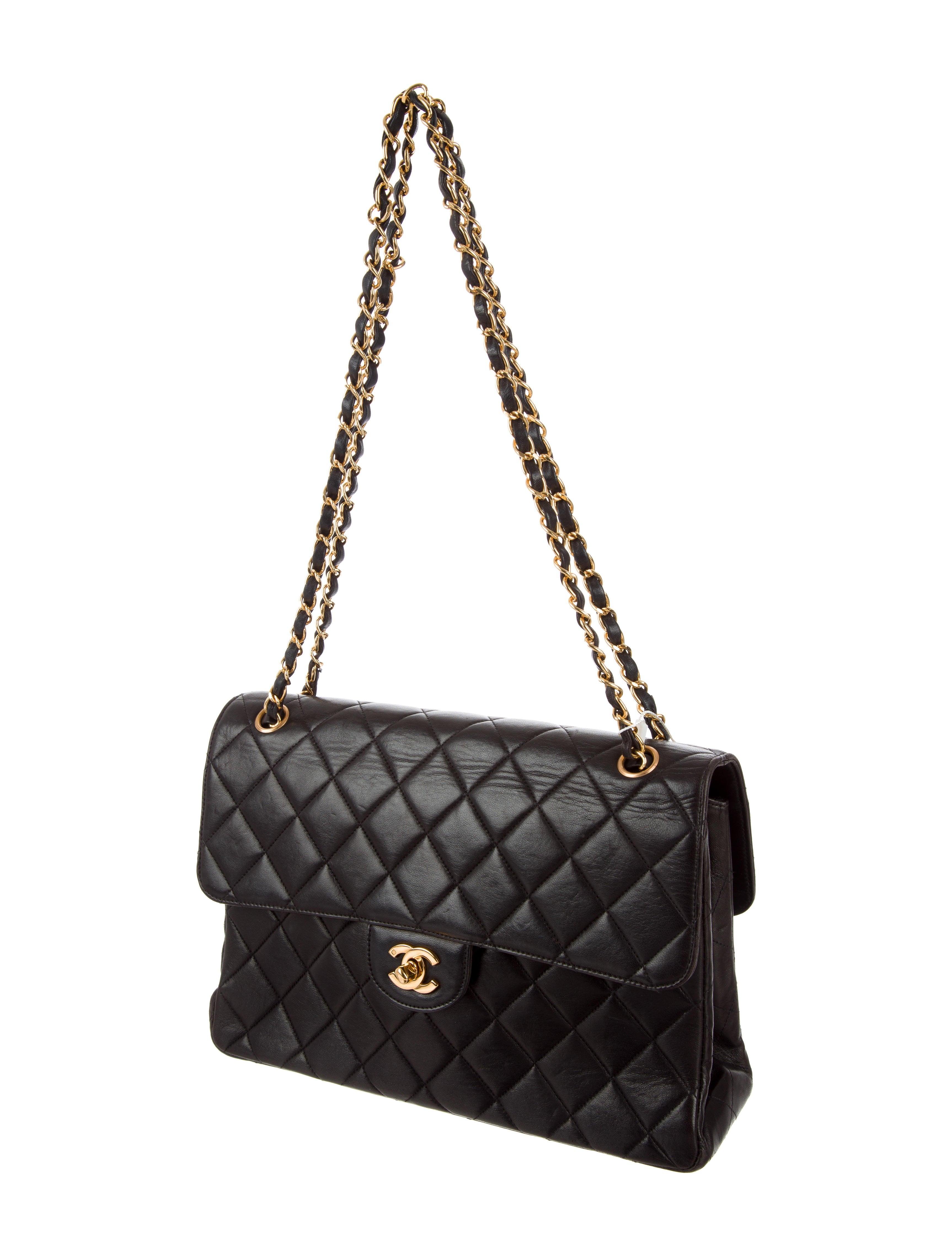 Chanel Jumbo Double Sided Flap Bag - Handbags - CHA213569  4f66cbabacf82