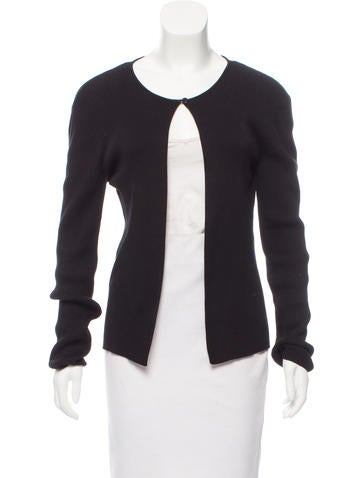 Chanel Ribbed Button-Up Cardigan None