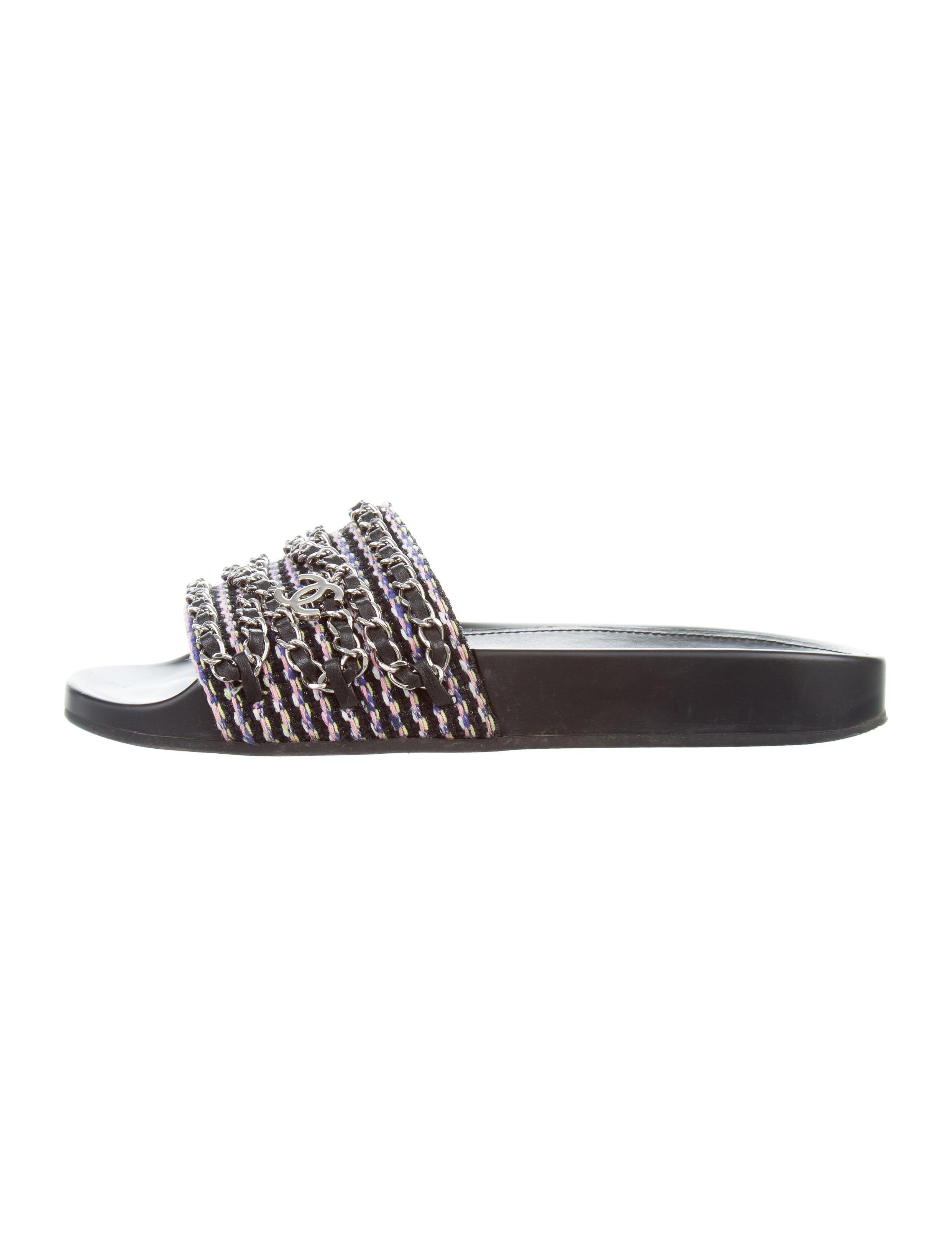 c3273907eb25 Chanel 2016 Tropiconic CC Tweed Sandals - Shoes - CHA214083