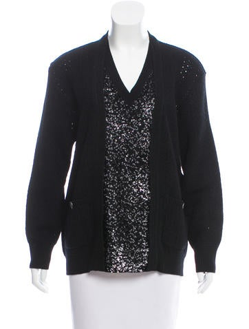 Chanel Sequined Wool Sweater None