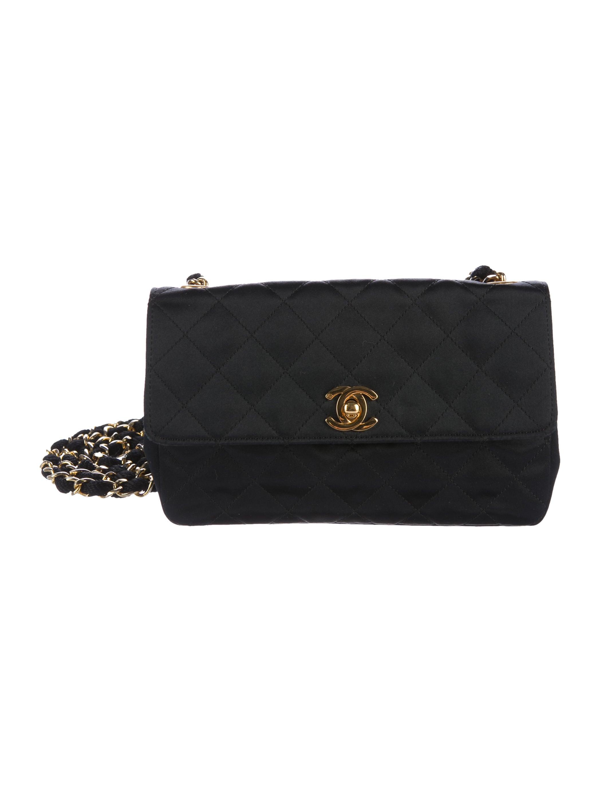 9de39df15885 Chanel Vintage Satin Mini Bag - Handbags - CHA215674 | The RealReal