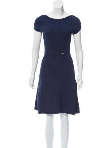 Chanel Jacquard A-Line Dress None