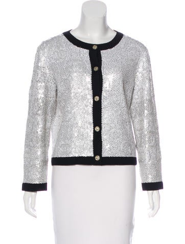 Chanel Sequined Cashmere Cardigan None
