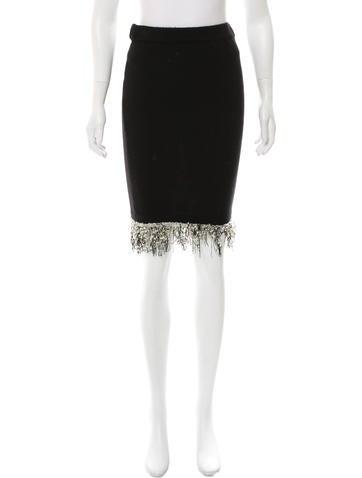 Chanel Fringe-Trimmed Vintage Skirt None