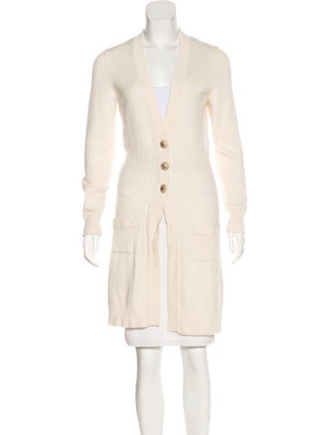 Chanel Cashmere Embellished Cardigan None