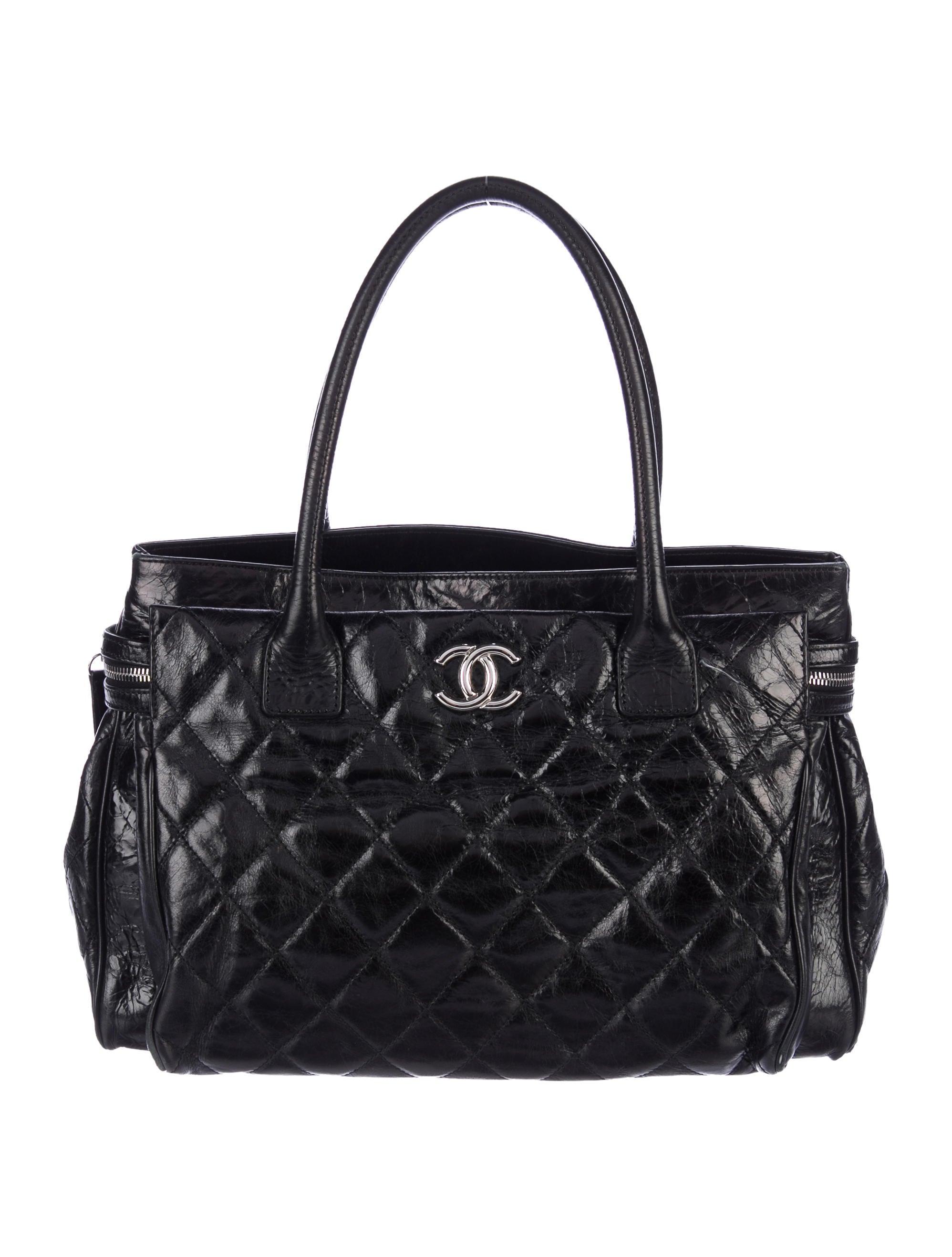 Chanel Glazed Calfskin New Portobello Tote - Handbags - CHA217234 ...