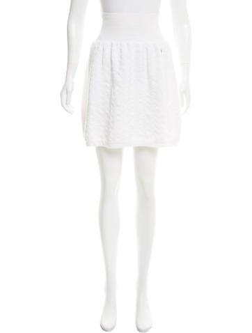 Chanel Knit Jacquard Skirt None