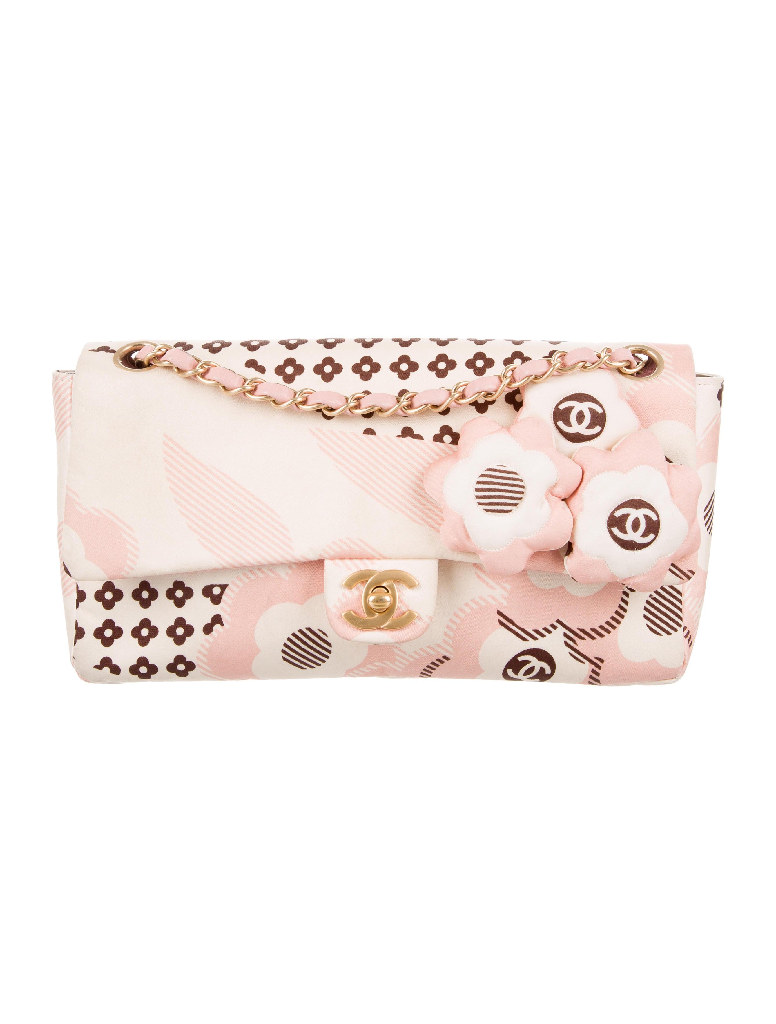 99959ad050a7 Chanel Satin Camellia Flap Bag - Handbags - CHA217889