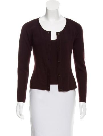 Chanel Cashmere Knit Cardigan Set None