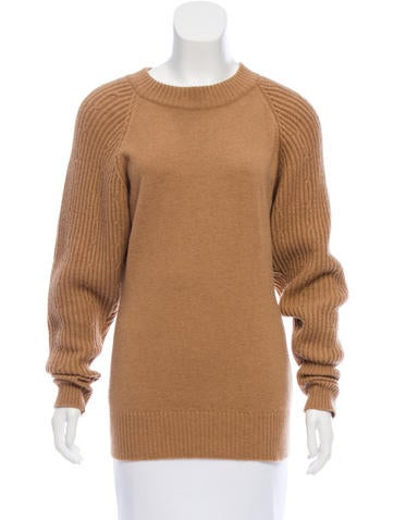 Chanel Camel Hair Crew Neck Sweater None