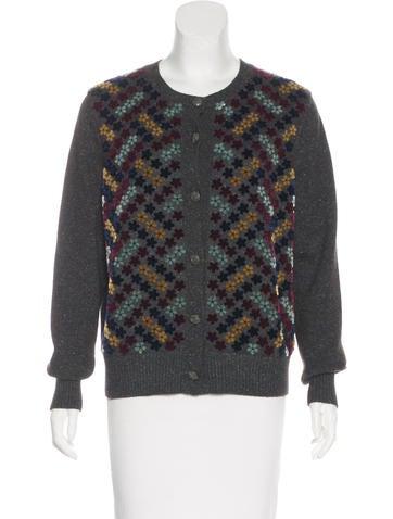 Chanel Silk & Wool-Blend Cardigan None