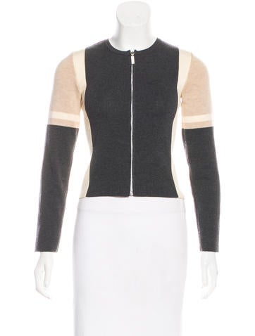 Chanel Wool Zip-Up Cardigan None