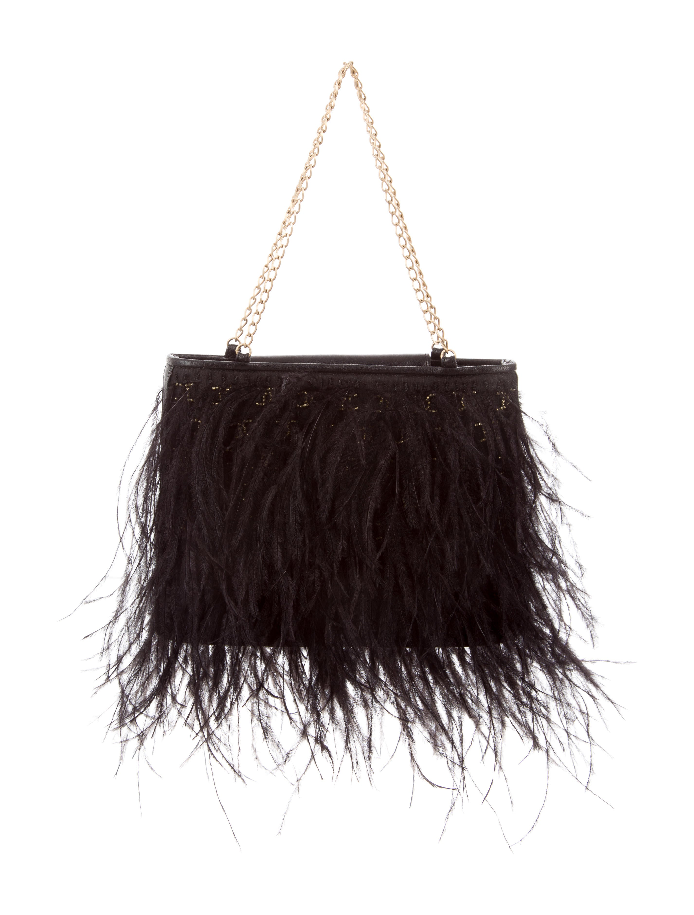 438285855af0e6 Chanel Ostrich Feather Evening Bag - Handbags - CHA218223 | The RealReal