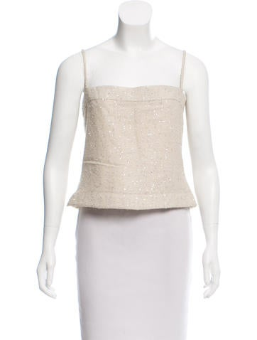 Chanel Wool-Blend Top None