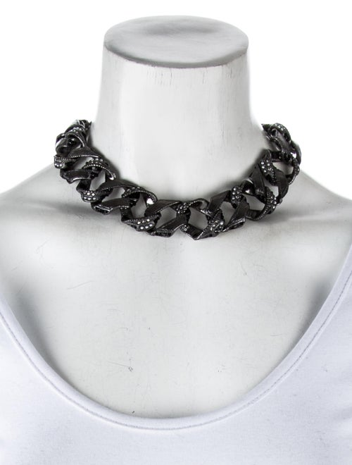 ce897c47e Chanel Faux Pearl & Crystal Curb Chain Choker Necklace - Necklaces ...