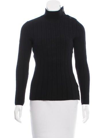 Chanel Rib Knit Wool Sweater None