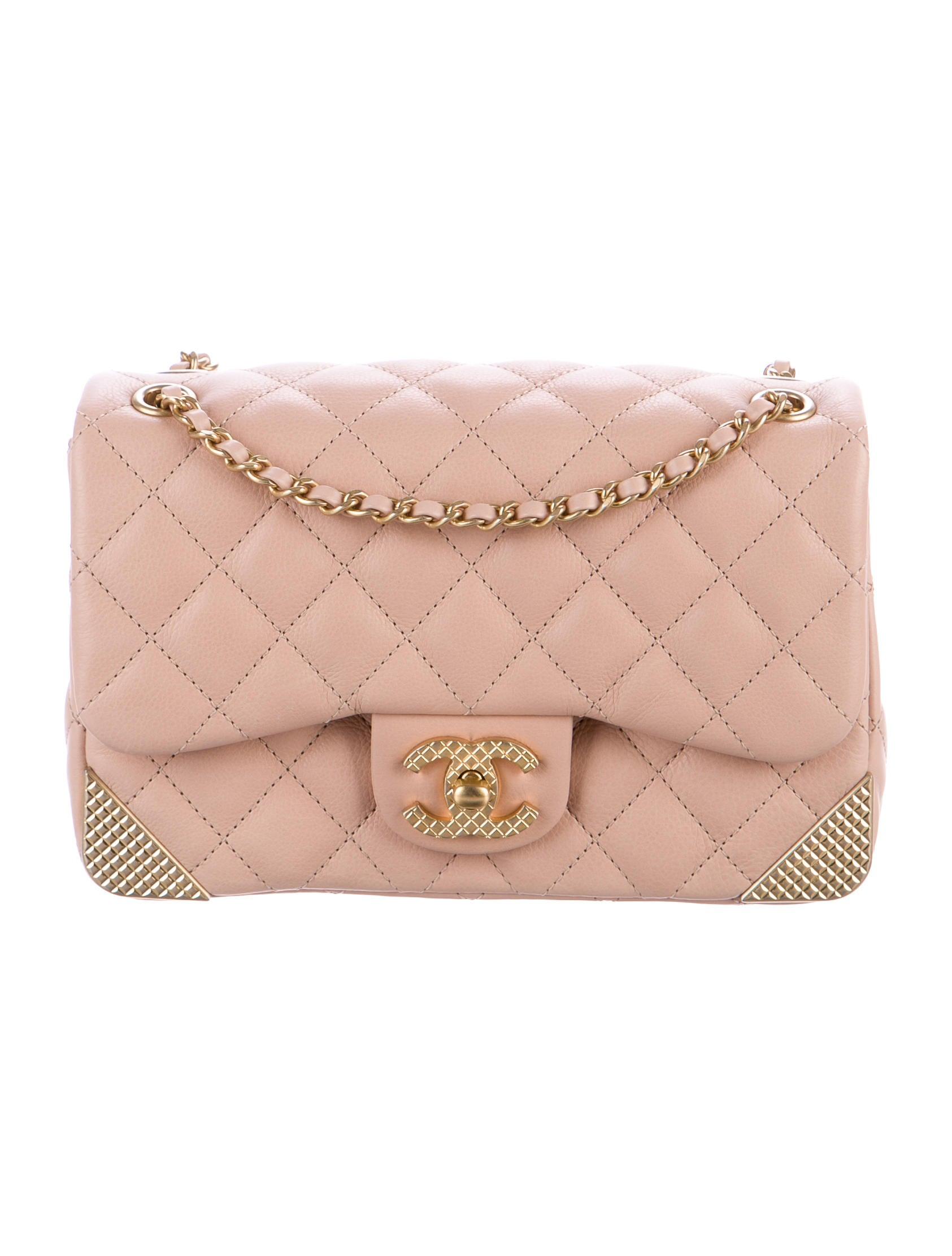 a9ad0bd56bce Chanel 2017 Studded Corners Flap Bag - Handbags - CHA219502 | The ...