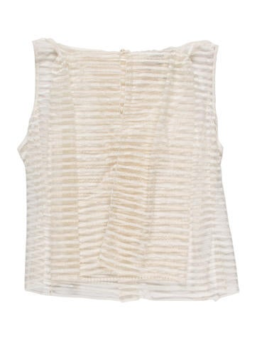 Chanel Embellished Sleeveless Top w/ Tags None