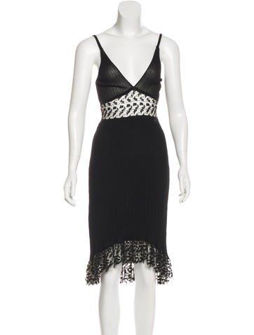 Chanel Rib Knit Sleeveless Dress None