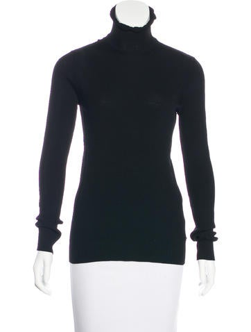 Chanel Wool Turtleneck Sweater None
