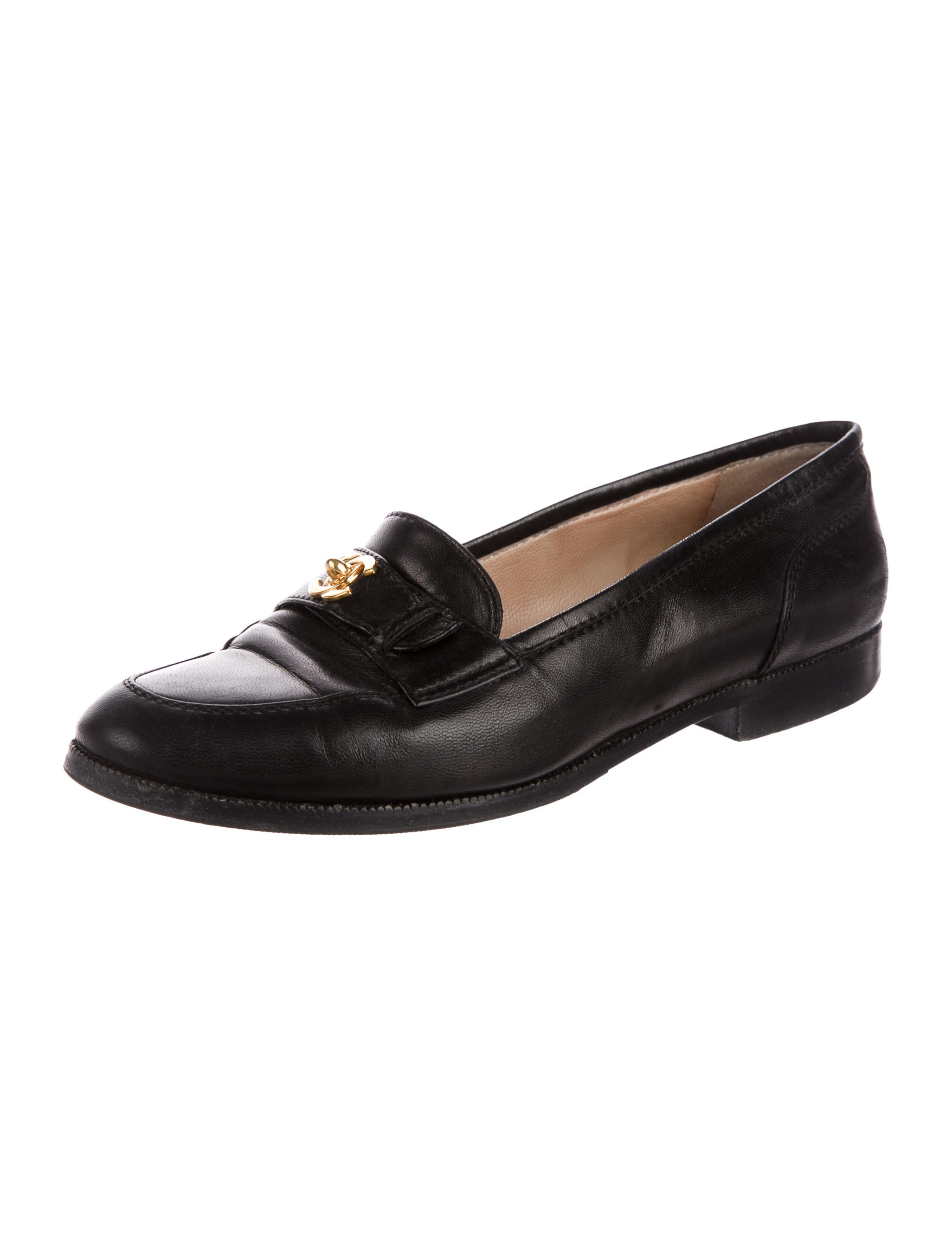 Chanel Leather CC Loafers - Shoes - CHA219904 | The RealReal