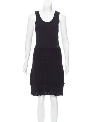 Chanel Ribbed Knee-Length Dress None