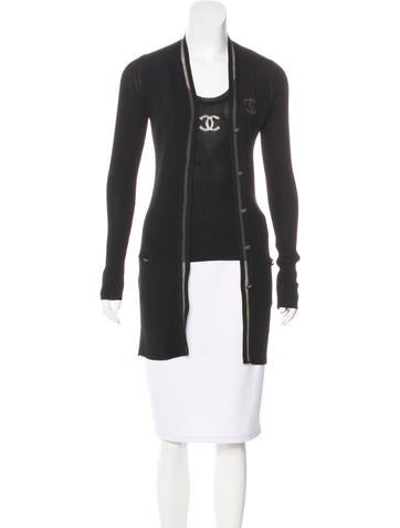 Chanel Rib Knit Cardigan Set None