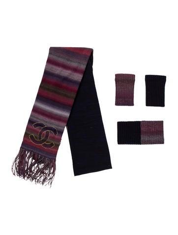 Chanel Paris-Moscou Knit Accessory Set None
