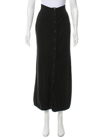 Chanel Knit Midi Skirt None