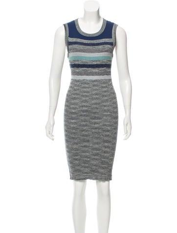 Chanel Striped Metallic Dress None