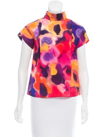 Chanel Silk Watercolor Top None