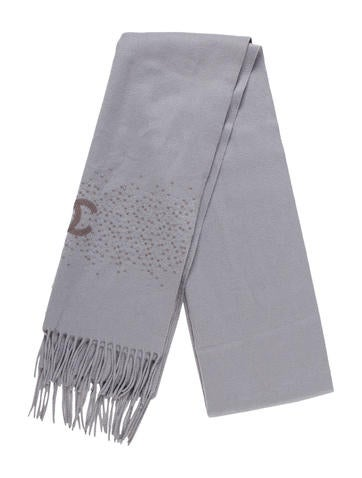 Chanel Embellished Cashmere Scarf None