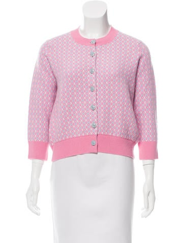 Chanel Cashmere Jacquard Cardigan None
