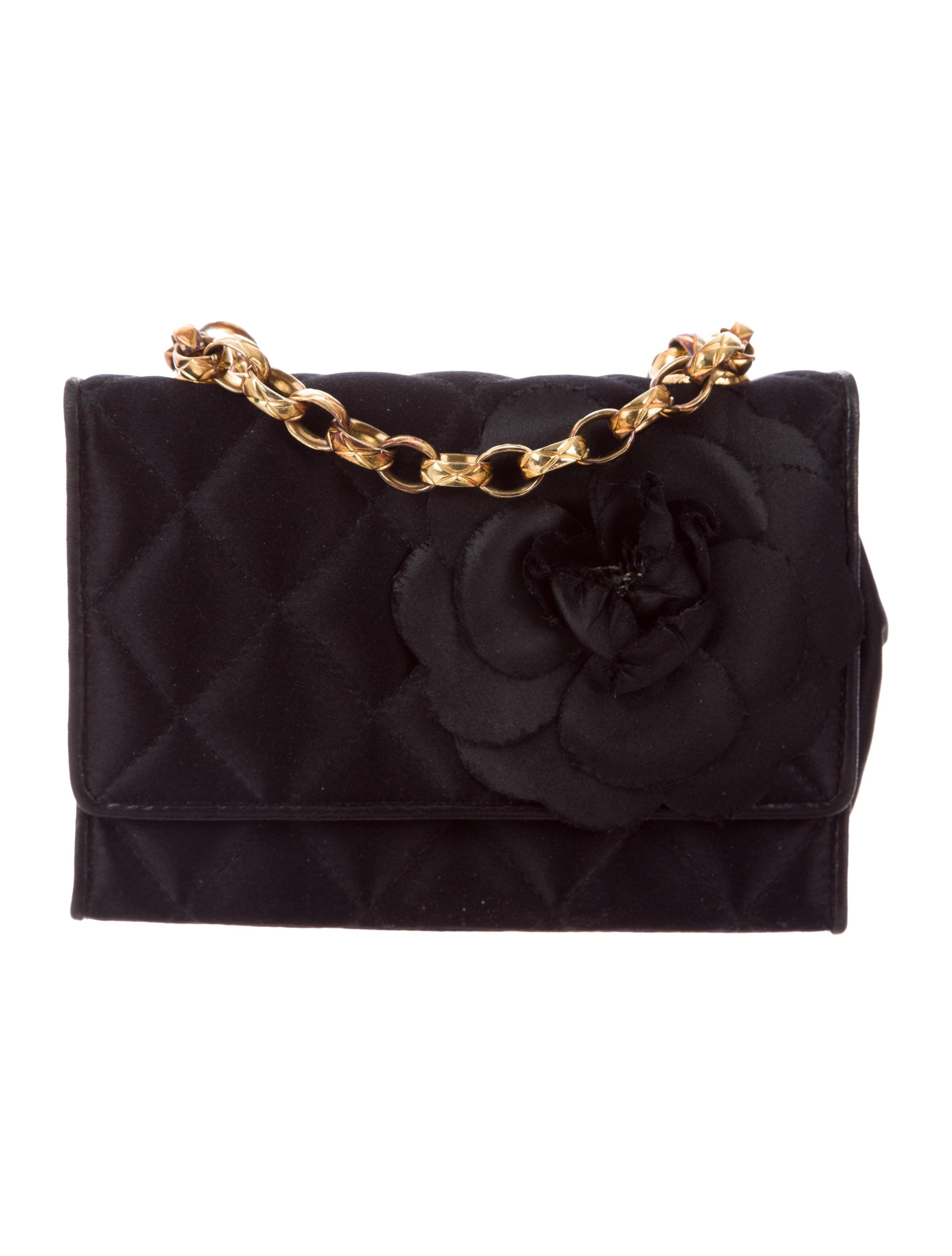 fa93ee2d77fc Chanel Satin Camellia Flap Bag - Handbags - CHA222317