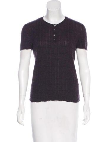 Chanel Rib Knit Top None