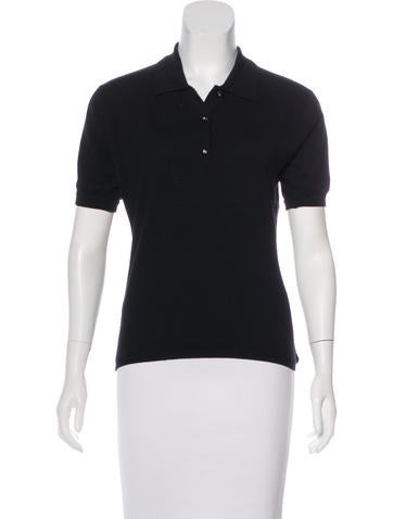 Chanel Wool Polo Top None