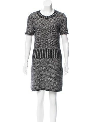 Chanel Embellished Mini Dress None