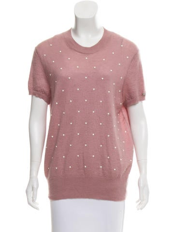Chanel Embellished Mohair Top None