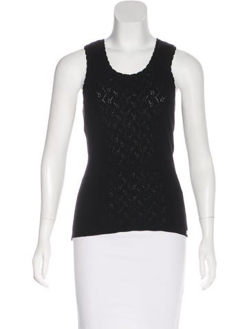 Chanel Sleeveless Knit Top None