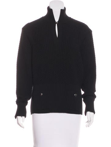 Chanel Textured Wool Sweater None