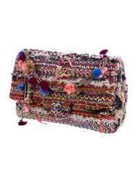 c258519f81fb72 ... Classic Jumbo Tweed Pom-Pom Single Flap Bag w/ Tags image 3 ...