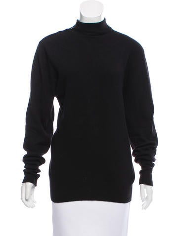 Chanel Knit Mock Neck Sweater None