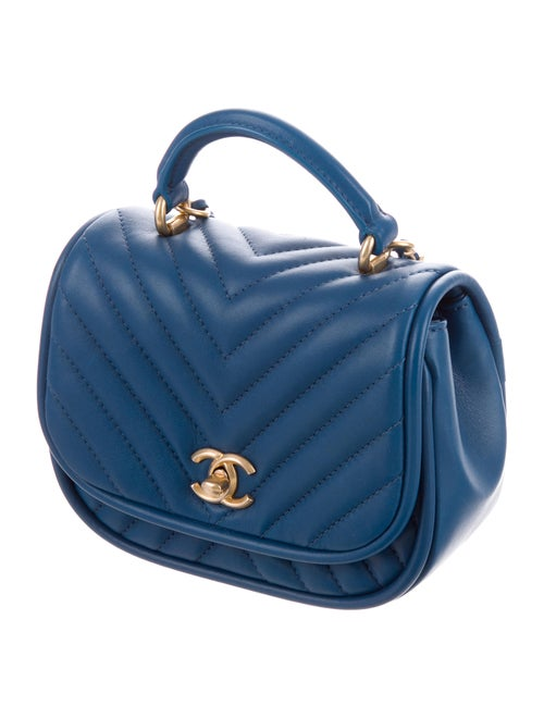 296d5a20c736 Chanel 2017 Reversed Chevron Round Flap Bag - Handbags - CHA225419 ...