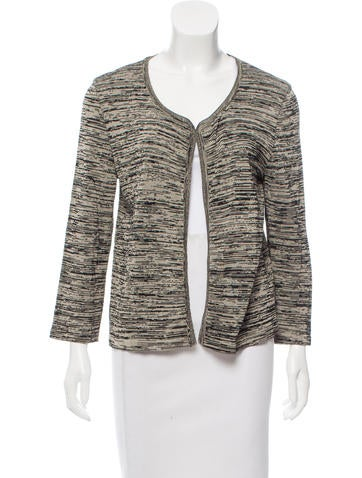 Chanel Marled Knit Cardigan None