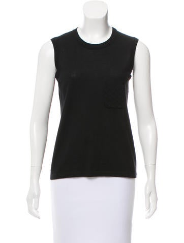 Chanel Cashmere Sleeveless Top None