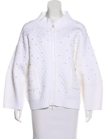 Chanel Embellished Quilted Jacket None