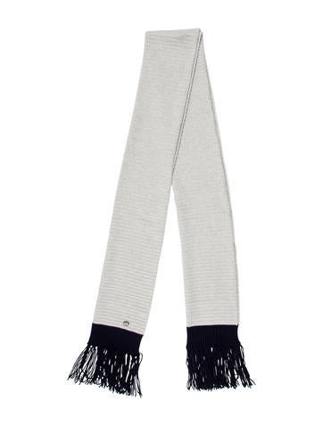 Chanel Fringe-Trimmed Cashmere Scarf None