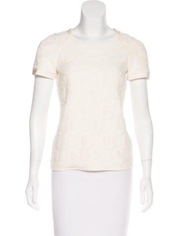 Chanel Camellia Silk Top None